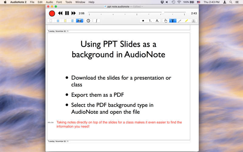 AudioNote for mac